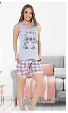 Пижама женская майка и шорты хлопок МИСС ЛАЛИ № 1000, фото 2