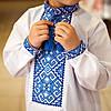 Вишиваночка для хлопчика з голубим орнаментом, фото 3