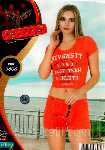 Пижама женская топик и шорты № 5606