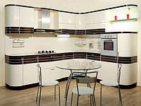 Кухни с крашеными фасадами на заказ в Киеве недорого, кухня с крашеным МДФ металлик под заказ. Гарантия!