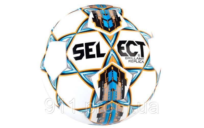 М'яч футбольний №5 SELECT BRILLANT REPLICA (білий-синій-оранжевий)