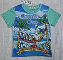 Летний комплект для мальчика: футболка и бриджи джинсовые, фото 2