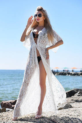 a4700950ed5d0 Женская стильная пляжная туника в больших размерах 9066-1