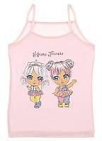 Майки детские для девочек ТМ Donella оптом р.4/5 лет (110-116 см), фото 1
