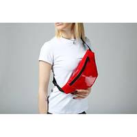 Поясная сумка лаковая красная