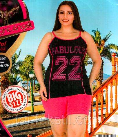 Домашний комплект майка и шорты большого размера S - 6029, фото 2