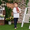 Вишиванка для хлопчика з червоним орнаментом, фото 2