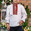 Вишиванка для хлопчика з червоним орнаментом, фото 3