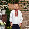Вишиванка для хлопчика з червоним орнаментом, фото 4