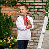Вишиванка для хлопчика з червоним орнаментом, фото 5
