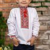 Вишиванка для хлопчика з червоним орнаментом, фото 6