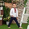 Вишиванка для хлопчика з червоним орнаментом, фото 8