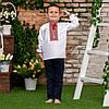 Вишиванка для хлопчика з червоним орнаментом, фото 10