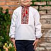 Вишиванка для хлопчика з червоним орнаментом, фото 9
