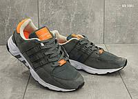 Мужские кроссовки в стиле Adidas Equipment, замша, сетка, пена, серые 46 (29,5 см)