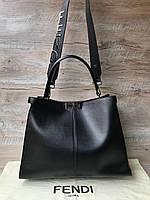 Кожаная женская сумочка Fendi  фенди, фото 1