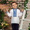 Вишиваночка для хлопчика з голубим орнаментом, фото 7