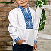 Вишиваночка для хлопчика з голубим орнаментом, фото 6
