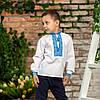 Вишиваночка для хлопчика з голубим орнаментом, фото 9