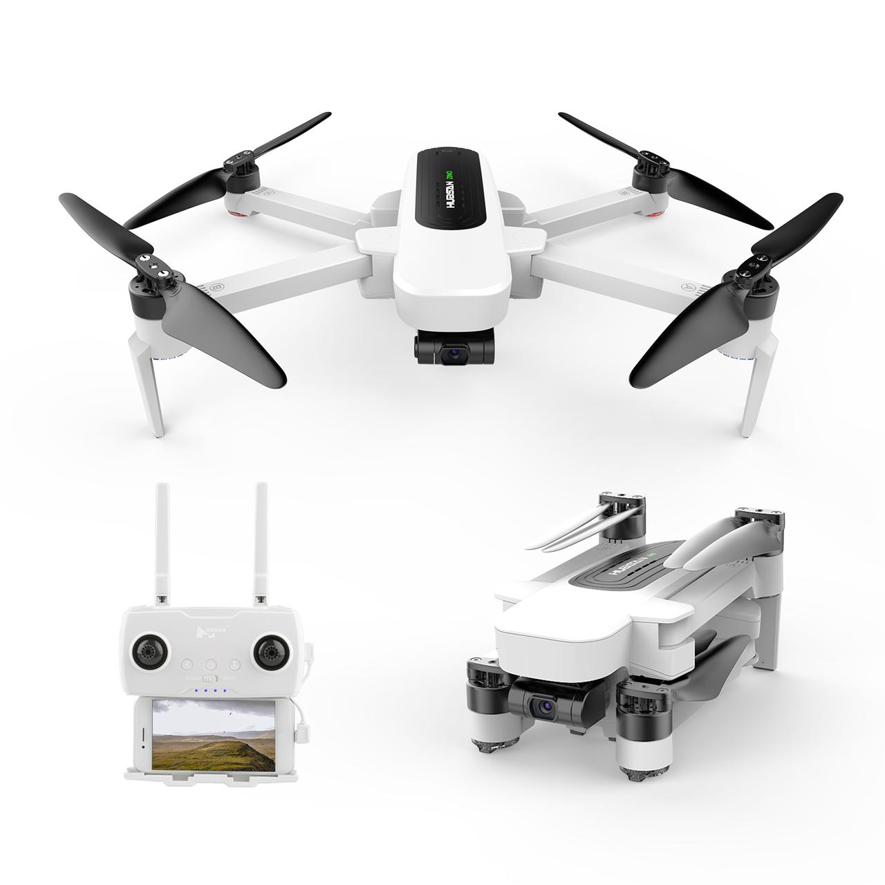 Квадрокоптер Hubsan Zino H117S с GPS и 3-х осевой 4K Камерой Белый