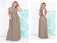 Платье женское длинное батал  Рита, фото 1