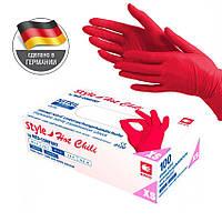 Перчатки XS красные нитриловые Style Chili неопудренные (AMPri), фото 1