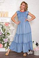 Джинсовый сарафан-платье женский макси. 48 - 52 р., фото 1