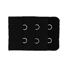 Удлинитель застежка для бюстгальтера на 2 крючка, цвет Черный