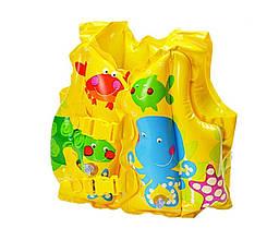 Детский надувной жилет Intex 59661 NP, от 3 до 5 лет, (41*30 см), жёлтый