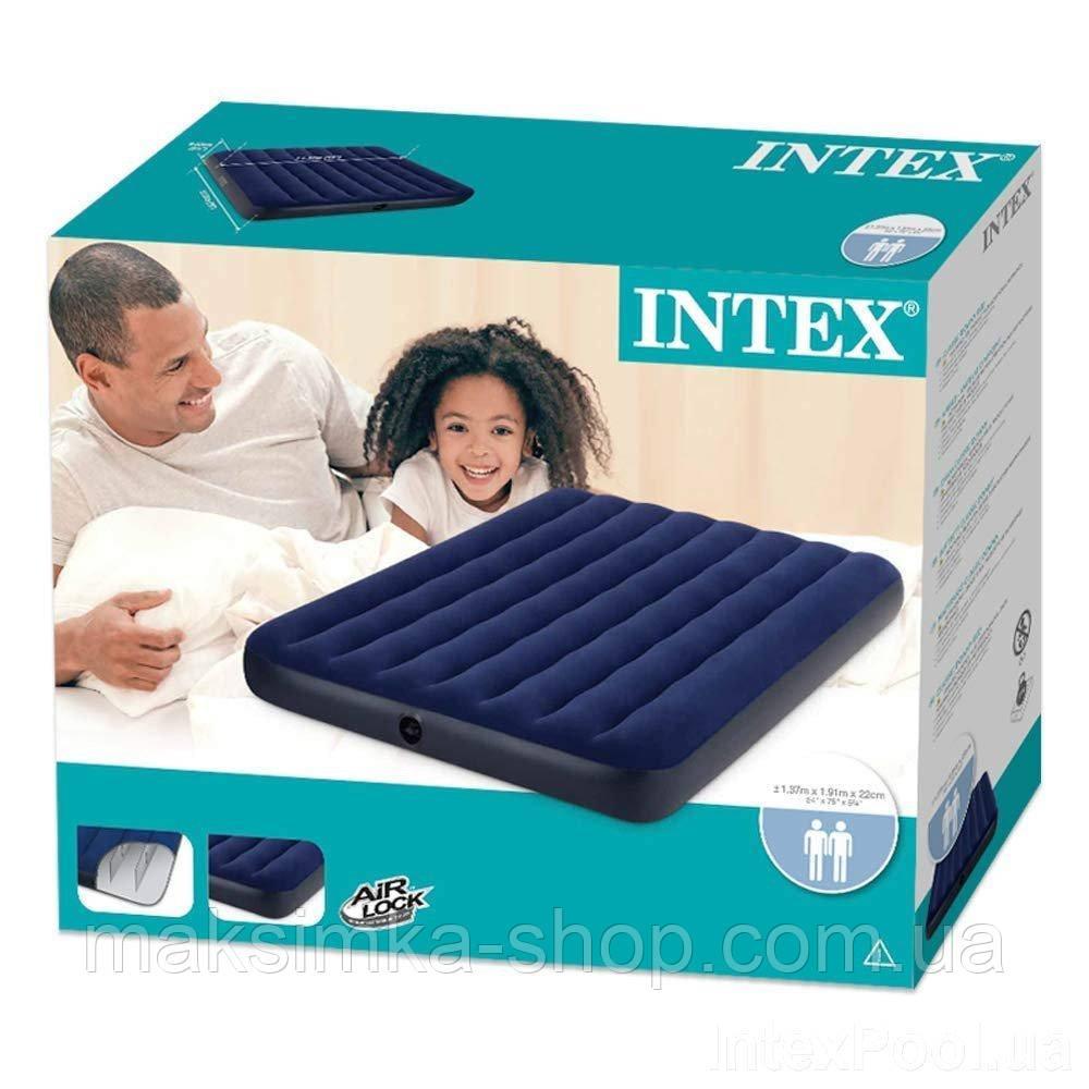 Надувний матрац Intex 68758 Полутораместный