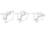 Меблевий підйомник кутового відкривання GIFF універсальний, фото 4
