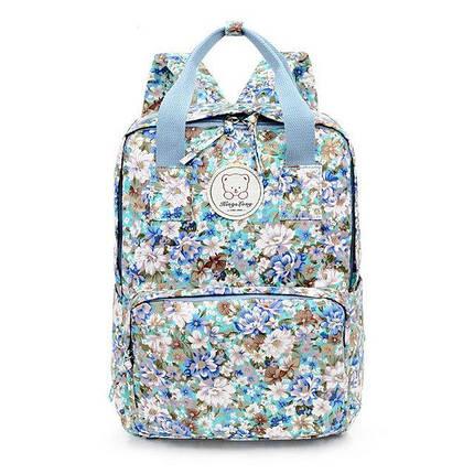 Стильні міські рюкзаки з квітами KingLong Блакитний, фото 2