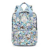 Стильные городские рюкзаки с цветами KingLong Голубой
