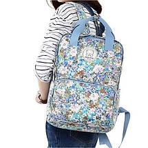 Стильні міські рюкзаки з квітами KingLong Блакитний, фото 3