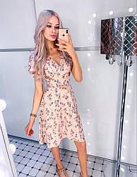 Платье принт женское летнее