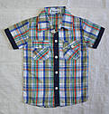 Річний комплект-3-ка для хлопчика: сорочка, футболка та шорти (Угорщина), фото 2