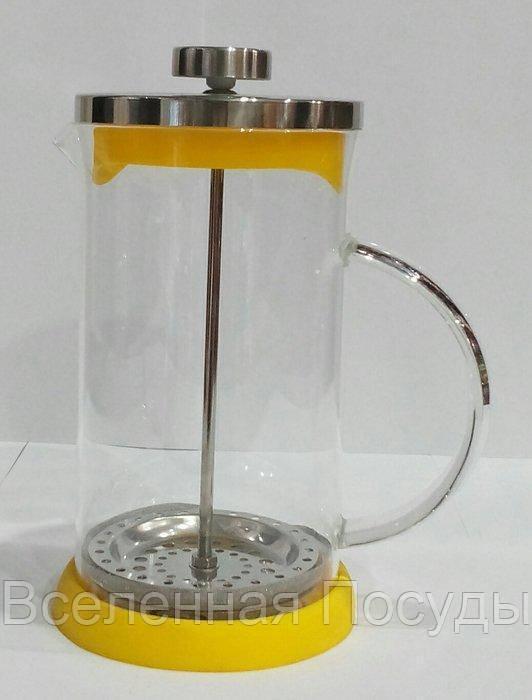 Френч - пресс для чая и кофе с силиконовым дном V 800 мл (шт)