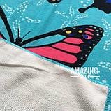"""Пляжний рушник   Пляжний плед   Пляжний килимок   """"Метелики"""" Розмір 170*86 див., фото 2"""