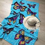 """Пляжний рушник   Пляжний плед   Пляжний килимок   """"Метелики"""" Розмір 170*86 див., фото 3"""