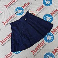 Детская школьная юбка синего цвета для девочки ASJO