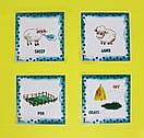 Дитячі англійські карточки з тваринками Farm animals, фото 4