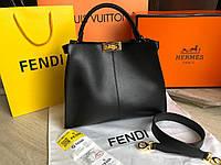 Большая крутая кожаная сумка Fendi, фото 1