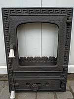 Дверцы для камина печи барбекю 515x380мм. Печная дверца со стеклом