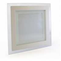 Светодиодный светильник Glass Rim Metal 18W квадратный, стекло, точечный