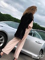 Норковая шуба френч до колена 44 46, фото 1