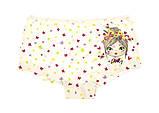 Трусы-шорты детские для девочек ТМ Donella оптом р.2/3 года (98-104 см), фото 2