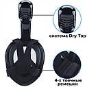 Полнолицевая панорамная маска для плавания UTM FREE BREATH (L/XL) Черная с креплением для камеры, фото 3