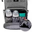 Сумка-рюкзак для мам UTM Серый, фото 4