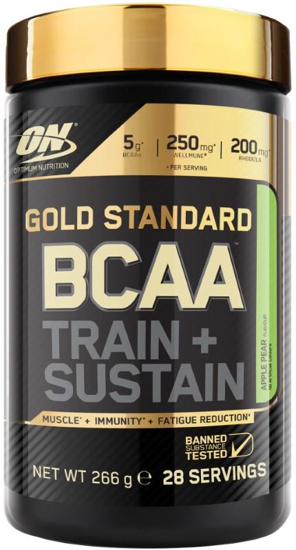 BCAA аминокислоты Optimum Nutrition GOLD Standard BCAA 266 g малина кола