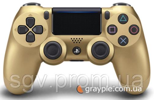 Беспроводной геймпад PlayStation Dualshock V2 Bluetooth PS4 Gold